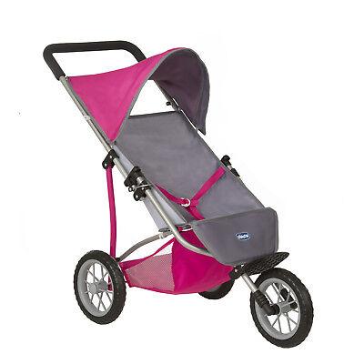Chicco Cortina 3 Wheeler Dolls Pram Kids Girls Folding Toy Stroller -
