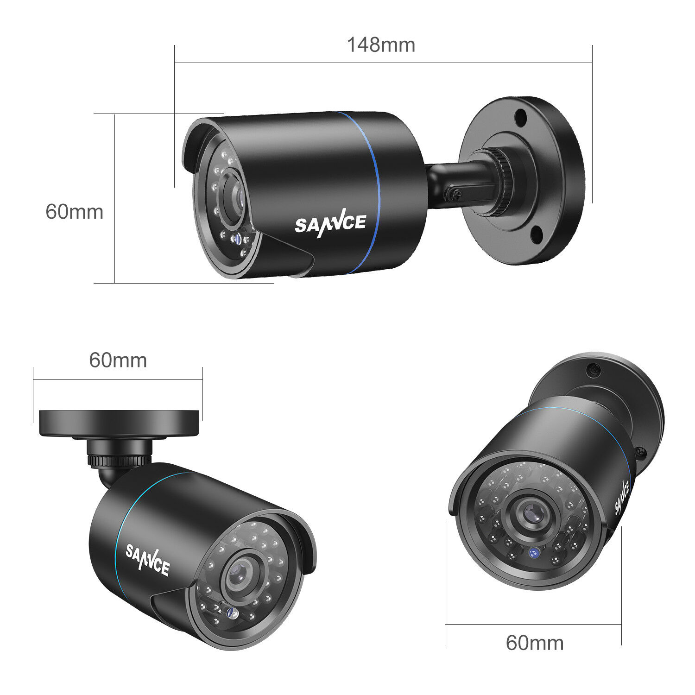SANNCE 1080P HDMI HD 8CH DVR 1500TVL IR Outdoor CCTV Security Camera System 1TB