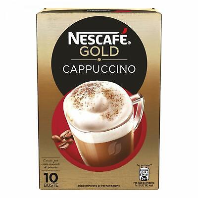 10 Bolsitas Cappuccino Nescafé Gold Preparado Soluble Desayuno Café Leche