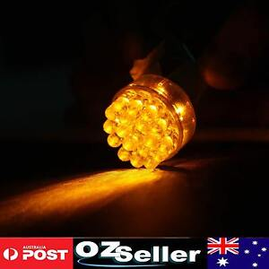 1x 24-LED 1156 BA15S Globe Brake Turn Park Tail Head Reverse Light Bulb Amber OZ