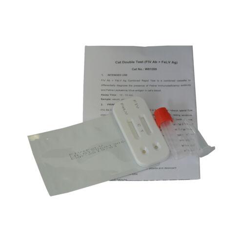 20 Cat Double Test Feline Immunodeficiency(FIV) AIDS & Leukaemia Virus(FeLV) Kit