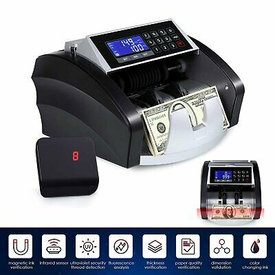 Money Counter W Uvmgirddmt Counterfeit Detection Bill Bank Counting Machine