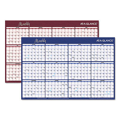 (At-A-Glance Reversible Horizontal Erasable Wall Planner 36 x 24 2019 A102)