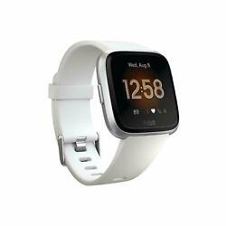 Fitbit Versa Lite Edition Smart Watch (S & L Bands) - White (FB415SRWT) LIKE NEW