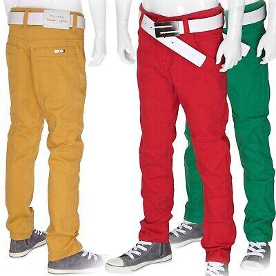 Jungen Hose Jeans Kinderhose Gr.110-176 Sommer Jeanshose Rot Grün Ochre/Gelb Neu - Kinder Jungen Jeans