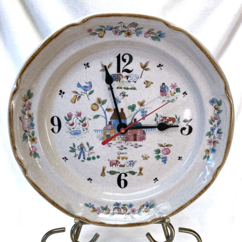 Vintage International China Heartland Plate Wall Clock with New Movement