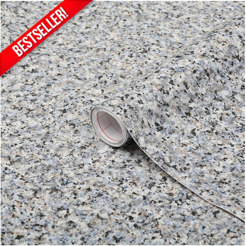 Decorative Gray Granite Marble Contact Paper Countertop Viny