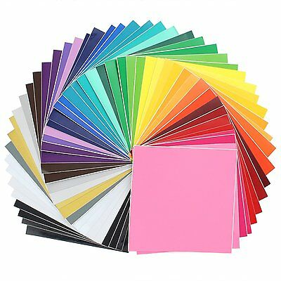 "Oracal 631/651 Vinyl - 12"" x 12"" for silhouette, cricut. 48 Pack of Top Colors"