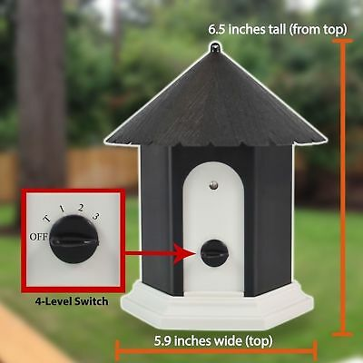 Puppy Dog Outdoor Ultrasonic Anti Barking Control Birdhouse Nuisance Stop Bark H