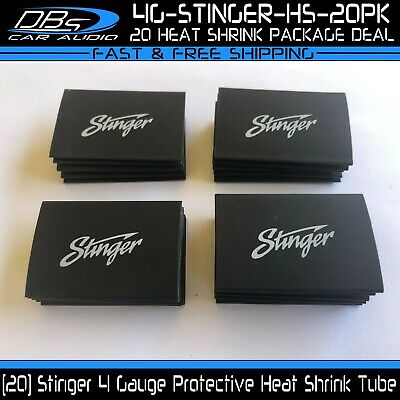 20 4ga Black Tube Plastic Sleeve 4 Gauge Stinger Heat Shrink Protective Tubing