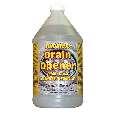 Fumeless Drain Opener - Professional Strength - Fast Acting - 1 gallon (128 -