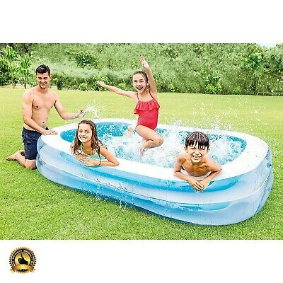 Inflatable Pool Kiddie Swimming Small Plastic Kids Intex Family Garden Outdoor