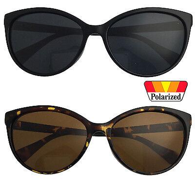 Women's Cat Eye POLARIZED Sunglasses Retro Classic Vintage Design Fashion (Cat Eye Sunglasses Black)