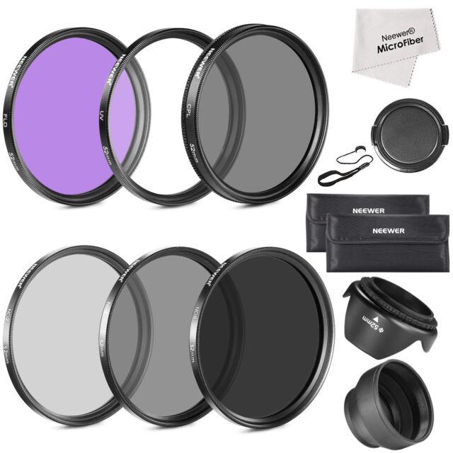 52MM lens Filter Accessory Kit for NIKON D7100 D7000 D5200 D5100 D5000 D3300 D90