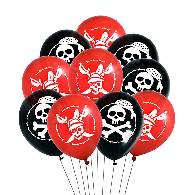 Piraten Luftballon Set mit Totenkopf Ballons für Kinder Geburtstag Motto Party ()