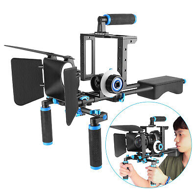 Neewer Aluminum Alloy Film Movie Rig System Kit Video Cage for Canon Nikon Sony
