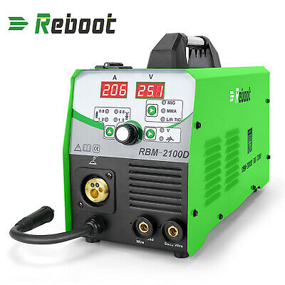 Mig-2100 Tig Welder Gasgasless 110v220v 4-in-1 Welding Hf Arc Stick Machine