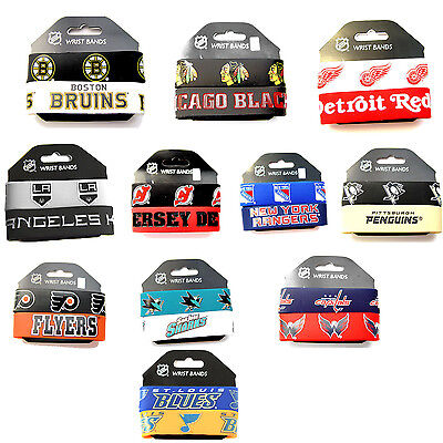 Nhl Fan - NHL rubber wrist band fan bracelet silicone 2 pack PICK your team
