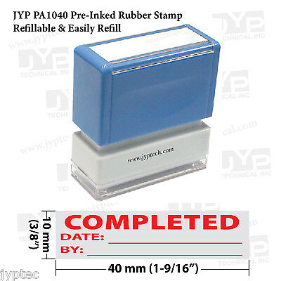 New Jyp Pa1040 Pre-inked Rubber Stamp W. Completed W. Date And By
