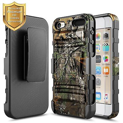 For Apple iPod Touch 5th 6th 7th Gen   Rugged Shockproof Holster Clip Cover - Apple Ipod Touch Clip