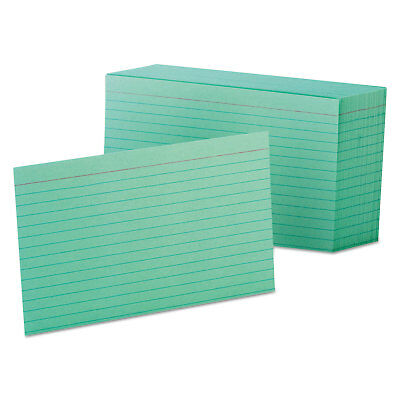 Oxford Ruled Index Cards 4 X 6 Green 100pack 7421gre