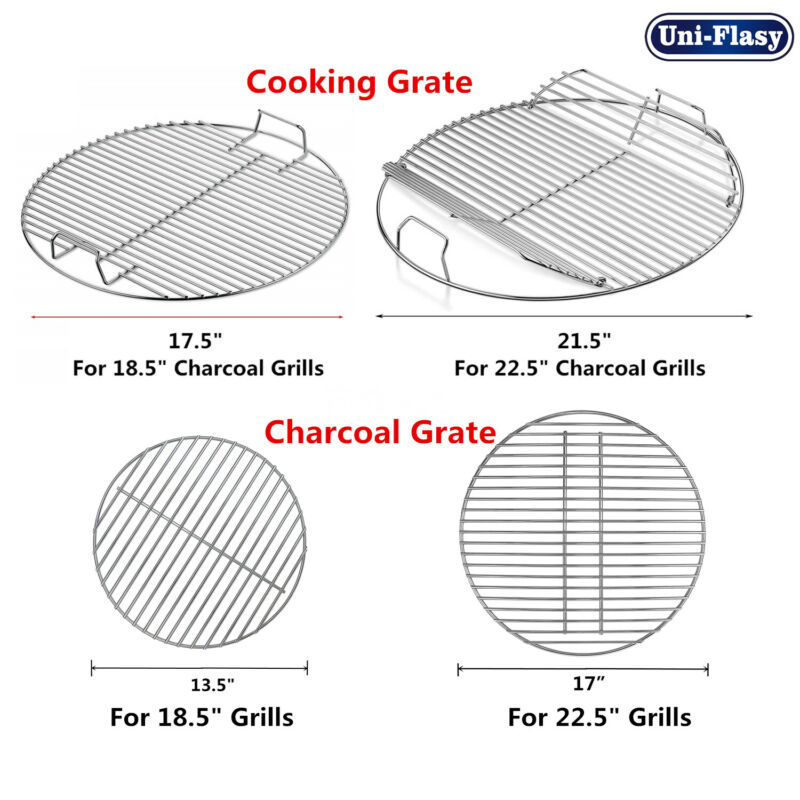 """Cooking Grates, Charcoal Grate for Weber 18.5"""" 22.5"""" One-Touch Mater-Touch Grill"""