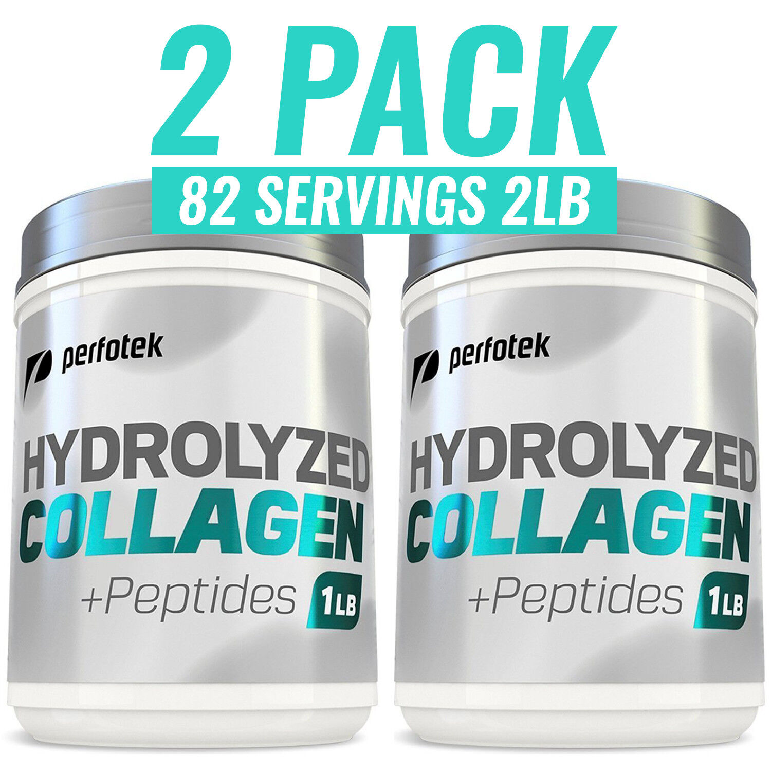▶ Collagen Peptides 2lb Hydrolyzed Anti-aging Protein Pow...