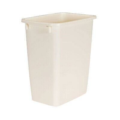 Rubbermaid 21 Quart Kitchen, Bathroom, and Office Wastebasket Trash Can, Bisque