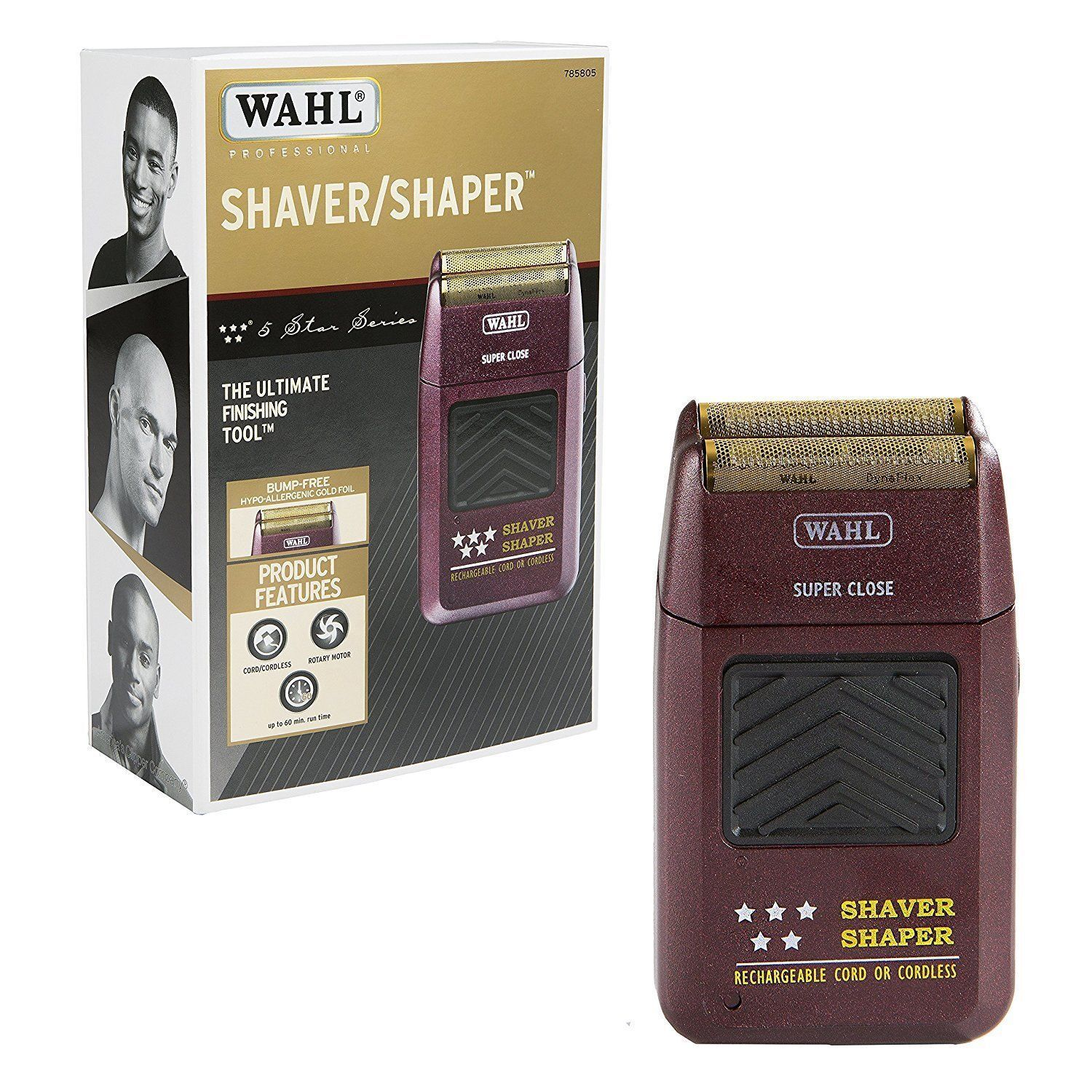 Wahl 8061 Cord/Cordless Rechargeable Men's Electric Shaver-