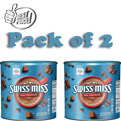 Pack of 2 Swiss Miss Milk Chocolate Hot Cocoa Mix Canister (76.5 oz.) *BEST