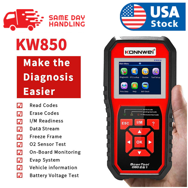 KW850 OBD2 EOBD CAN Auto Diagnostic Scanner Car Fault Code Reader Tester Tool Automotive Tools & Supplies