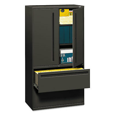 Hon 700 Series Lateral File Wstorage Cabinet 36w X 19-14d Charcoal 785lss