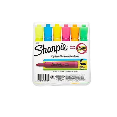 Sharpie Accent Tank-style Highlighters 6 Colored Highlighters 25076