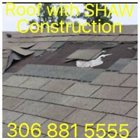 New Roof/ Re-Roof or Roof Repair 306 881 5555 Free Estimate