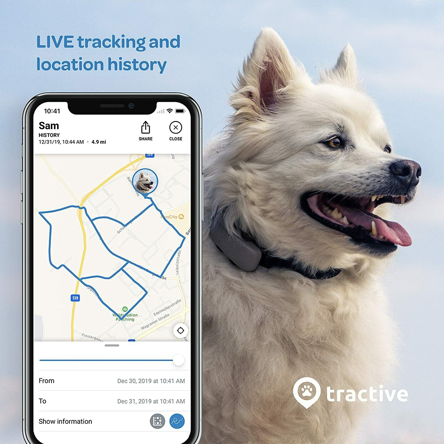 GPS Dog Tracker-Location, Activity With Unlimited Range Waterproof Newest Model - $79.99