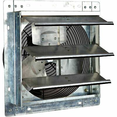 12 Inch Exhaust Fan Shutter Wall Attic Fans Garage Barn Hvac Bathroom Ventilator
