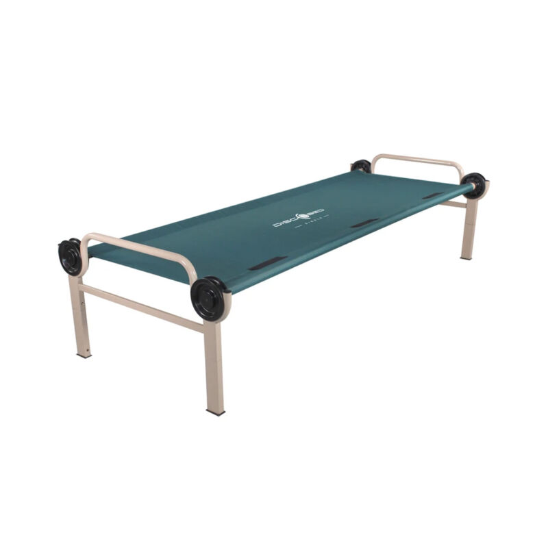 Disc-O-Bed Adjustable Height Portable Hunting Camp Cot Bed, Teal (Open Box)