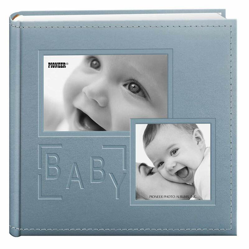 Pioneer Photo Album 4x6 holds 200 Pictures - Baby - Blue