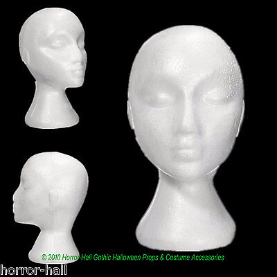 Styrofoam Head Halloween Decorations (New Prop Building Supply-MANNEQUIN HEAD-Halloween costume Mask Wig)