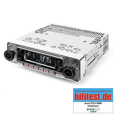 Autoradio Car Radio Tuner Bluetooth silber USB MP3 Retro Oldtimer CD Tuner
