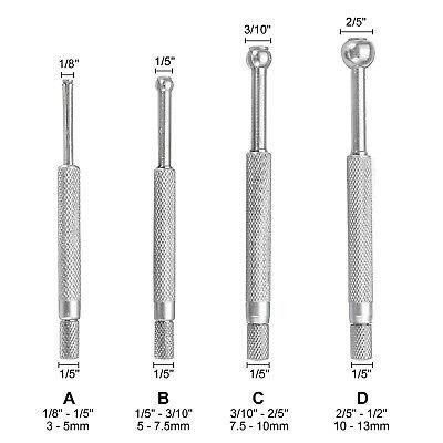 Hfsr 4 Pcs Full-ball Small Bore Hole Precision Gage Gauge Set