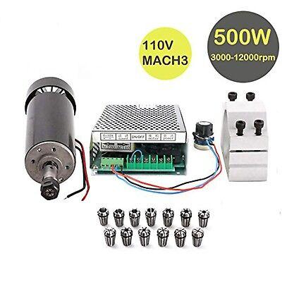 Konmison 1set Mini Cnc Lathe Air Cooled 500w Spindle Motor Cnc 0.5kw With 52m...