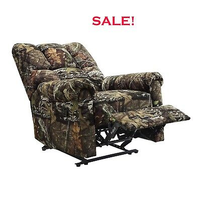 CAMOUFLAGE MAN CAVE CABIN FURNITURE CAMO HUNTER MOSSY OAK RECLINER Relax Chair for sale  Los Angeles
