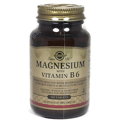 Solgar Magnesium with Vitamin B-6 Tablets   - 100 Count