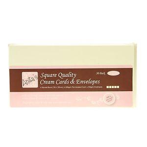 Anitas Card Packs - 50 Pack - Square Cream ANT 1512021