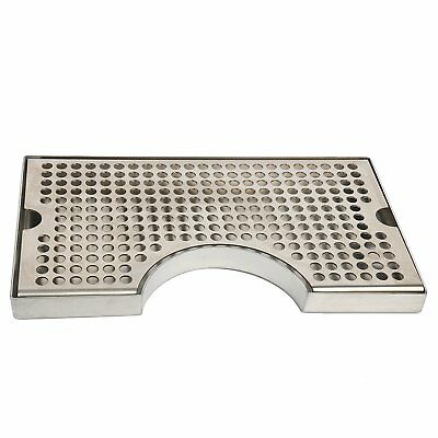 Tap Draft Beer Kegerator Tower Drip Tray Stainless Steel Surface Mount No Drain (Drip Tray No Drain)