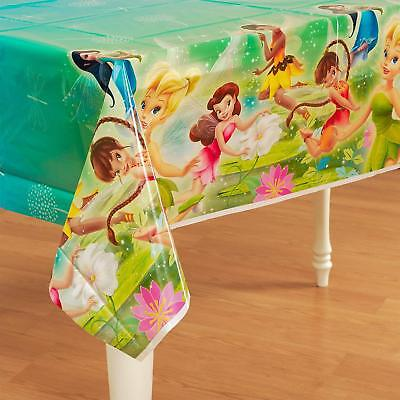 Tinkerbell Table Cover (Disney Tinkerbell & Fairies Plastic Table Cover Party Tablecloth Tinker)