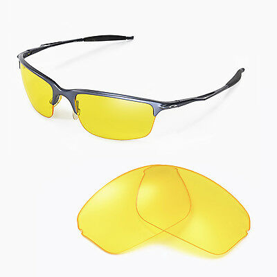 0ab8f3d068 New Walleva Yellow Replacement Lenses For Oakley Half Wire 2.0 Sunglasses