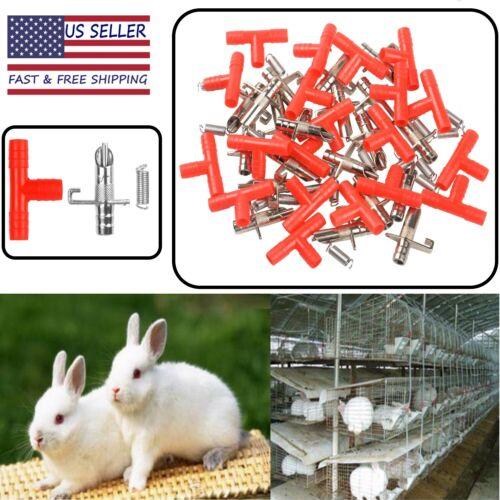 20pc Rabbit Water Nipple Drinker Feeders Bunny Waterer Guinea Pig Ferret Mice US