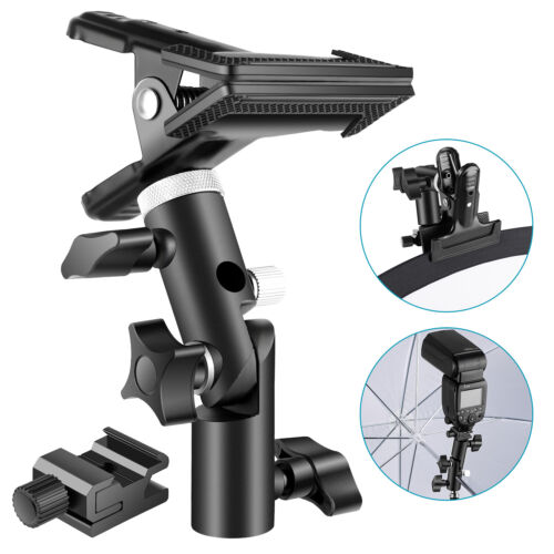 Neewer Reflector Clamp Holder and Flash Cold Shoe Adapter for Light Stand
